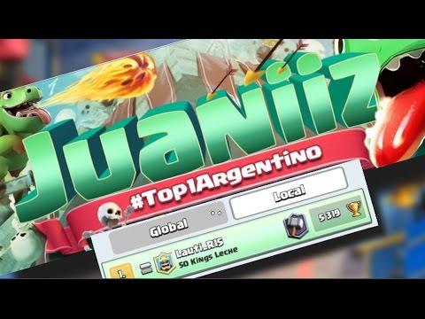 ENTREVISTANDO AL MEJOR JUGADOR DE ARGENTINA, Juaniiz Top 1   Clash Royale