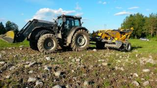 Scorpio 550 on land reclamation LOOTS OF STONES!!!