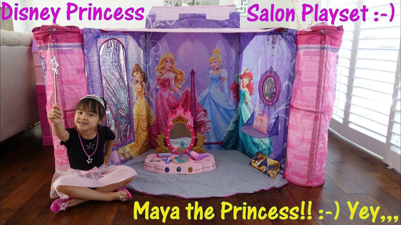 Disney Princess Salon Play Tent Beauty Salon Pretend Play Set Disney Vanity Set and More!  sc 1 st  YouTube & Disney Princess Salon Play Tent Beauty Salon Pretend Play Set ...