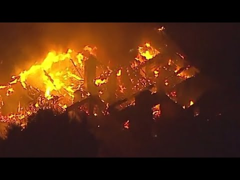Massive destruction from California wildfires