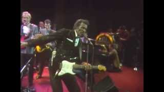 "Chuck Berry's 1986 Hall of Fame Induction Jam Session -- ""Reelin' and Rockin'"""