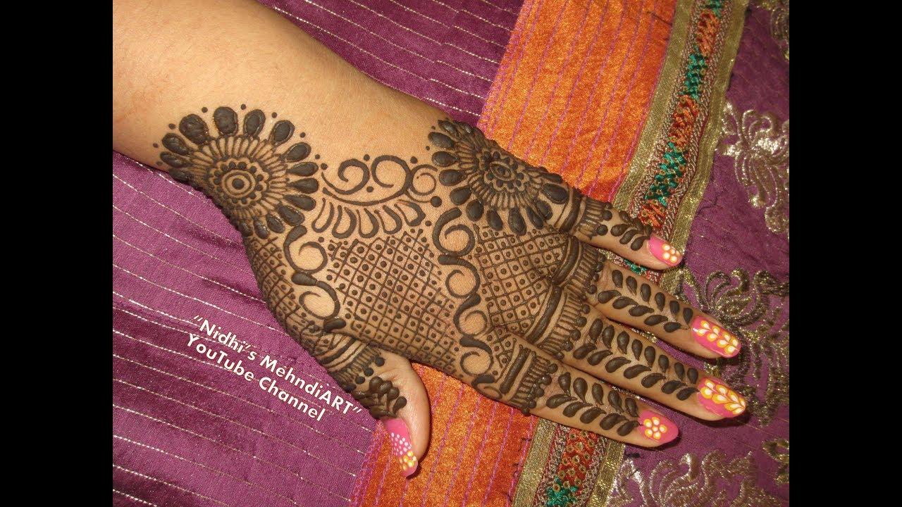 Semi bridal mehndi design video for back hand youtube semi bridal mehndi design video for back hand baditri Images