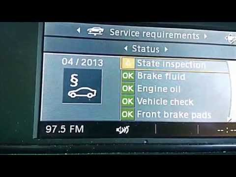 Resetting SERVICE message with IDrive system (CBD clusters)