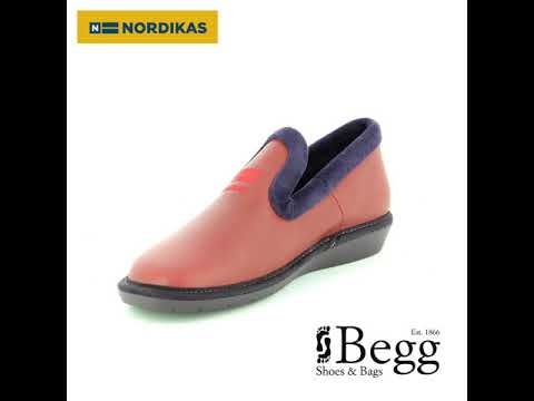 1d876b9a84027 Nordikas Tabackin 305-4 Red leather slippers - YouTube