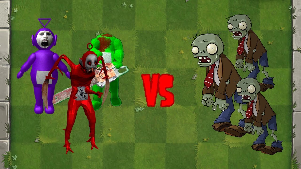 Slendytubbies + Peashooter Fusion - Plants vs Zombies Animation