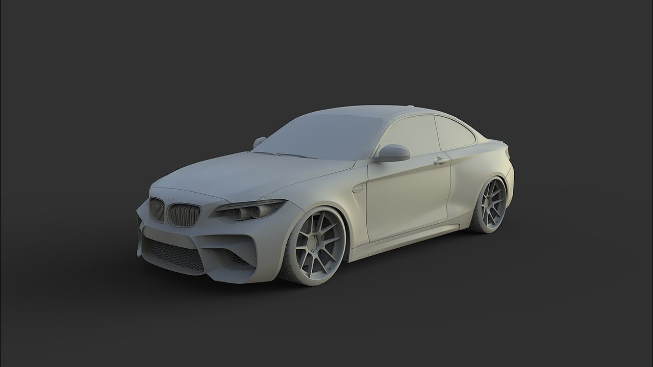 3d Car Modeling Timelapse Bmw M Sport Youtube