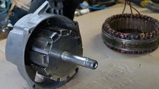 Самодельный генератор для ветряка 12 неодимовых магнитов(http://vk.com/freeenergypro Генератор для ветряка из Автомобильного генератора. Генератор 1322. 3771 28В 50А. 12 неодимовых..., 2014-11-16T22:42:01.000Z)