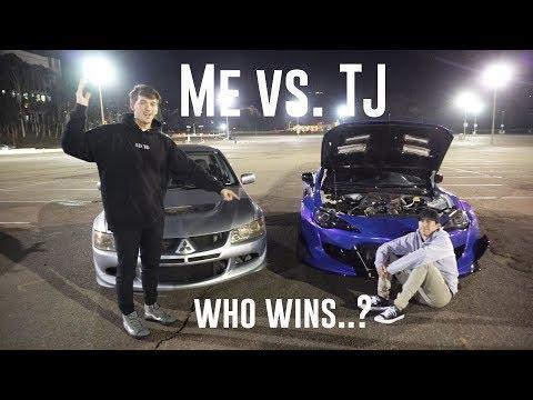 MY EVO VIII vs SUPERCHARGED BRZ