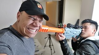 CRAZY NERF WAR CHALLENGE!! (PAINFUL SHOT IN THE HEAD)