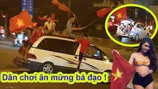 Bá đạo dân chơi Sài Gòn lái ô tô đi bão mừng đội tuyển Việt Nam vô địch Aff cup 2018 - Guufood