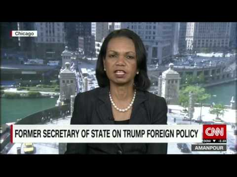 16.05.2017 - CNN Interview with Condoleezza Rice - Amanpour