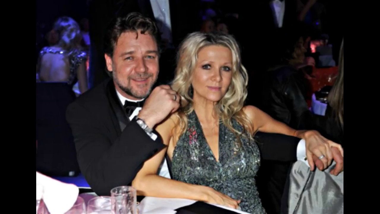 Russell Crowe with his wife Danielle Spencer and sons