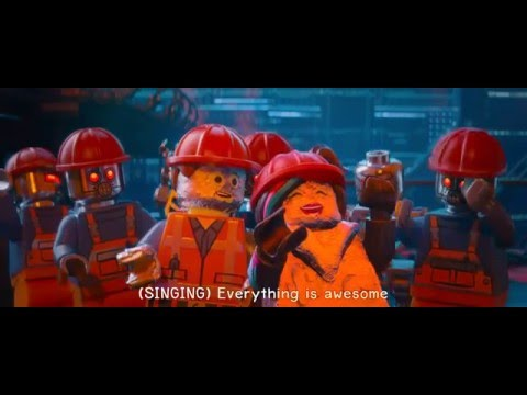 The LEGO Movie - Everything is Awesome (Robot Scene) Lyrics 1080pHD