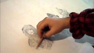 Wizard of Oz time-lapse drawing