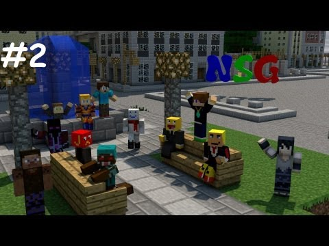 NSG Episode 2 (automatic minecart item unloader, and nether hub progress)