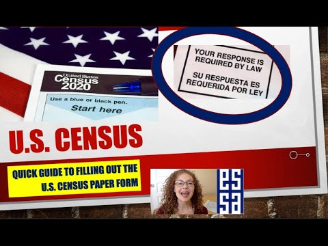 2020 CENSUS PAPER FORM INSTRUCTIONS