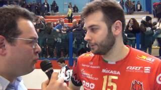 08-02-2017: #SuperLega Lucio De Cecco nel post Molfetta-Perugia 0-3