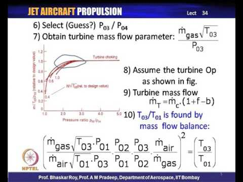 Mod-14 Lec-34 Engine component matching and Sizing