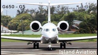 Gulfstream G650, Gulfstream G5 action @ St. Kitts Airport !!