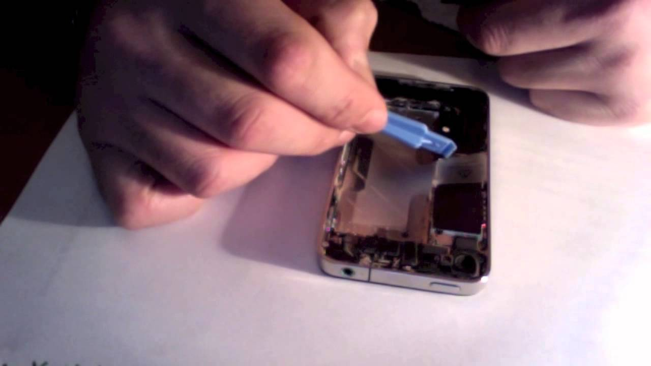 Home button flex cable repair iphone 4 how to tutorial youtube.