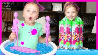 Barbie Color Reveal Spa in my House! | Barbie Dolls Videos with Kin Tin