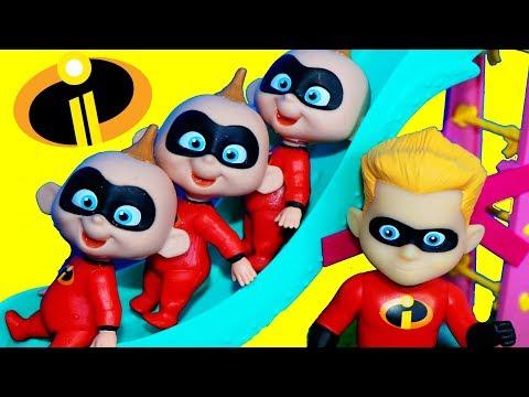 Incredibles 2 TRANSFORMING Jack Jack! Dash Disney Incredibles Story