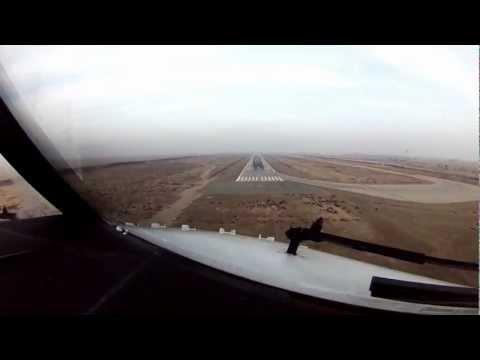 OKBK. Kuwait Landing. Cockpit View