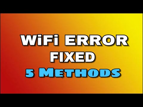 WiFi Authentication problem - ✅ Solved (5 Methods)