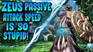 FULL ATTACK SPEED ON ZEUS WITH HIS PASSIVE IS NUTS! - Masters Ranked Duel - SMITE