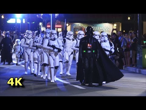 Darth Vader & Stormtroopers Imperial March - Disney's Hollywood Studios Galactic Nights - 4K