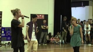 Australian Beatbox Championship 2013 1/4 final Vanessa vs Isosceles