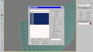 Анимация занавески в 3Ds Max