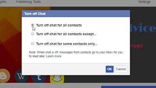 how to turn off chat on facebook