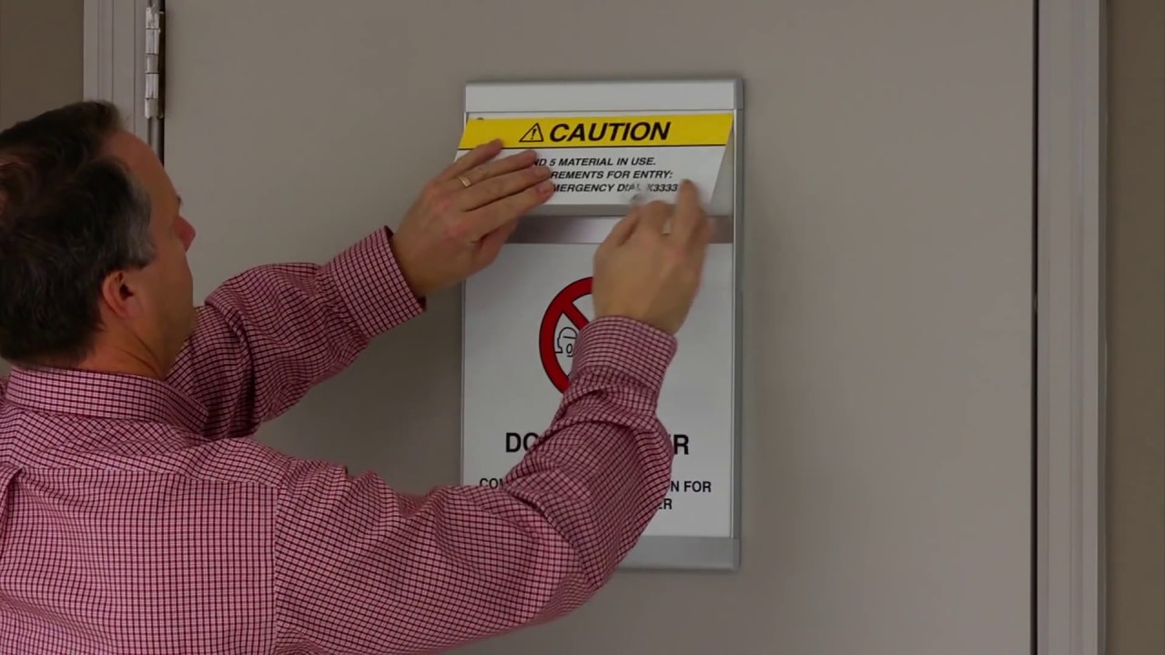 Lab door safety sign system youtube