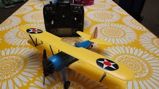 UMX Stearman PT-17 incl mix to fly with 1 stick