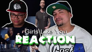 Maroon 5 - Girls Like You (REACTION) father & son