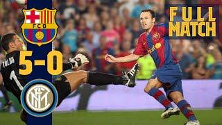 FULL MATCH: BARÇA 5  0 INTER (2007) with RONALDINHO, MESSI, ETO'O...
