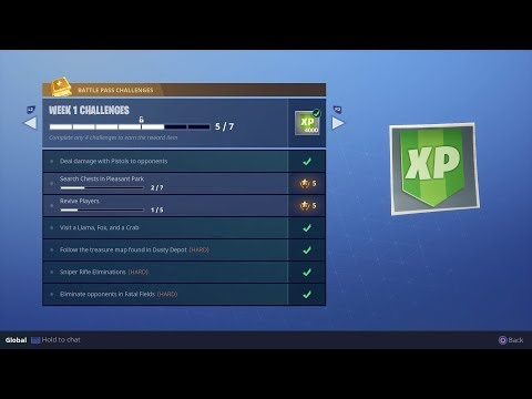 *EXTREMELY EASY!* HOW TO DO WEEK 1 CHALLENGES! *BATTLE PASS* FORTNITE BATTLE ROYALE