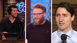COMEDY IS DEAD! Seth Rogen Fawns Over Anti-Free Speech Trudeau   Louder With Crowder
