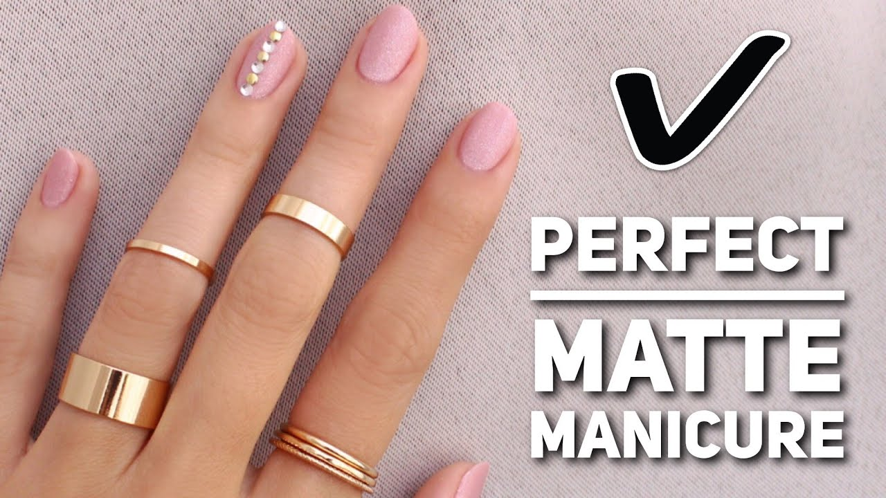 Get The Perfect Matte Manicure! - YouTube