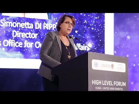 Dubai UN Space Forum - A global understanding of space technology is imperative