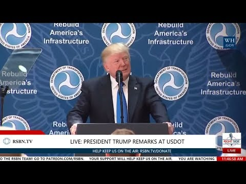 Full Speech: President Trump Delivers Remarks at the Department of Transportation 6/9/17