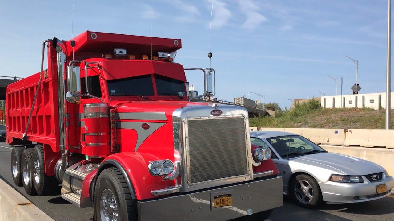 Tri Axle Show Trucks : Peterbilt tri axle dump truck youtube