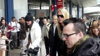 Llegada de Apocalyptica al aeropuerto...Bogotá, Colombia Enero 22 2012