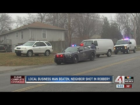 KC businessman beaten, neighbor shot during robbery on Christmas Eve