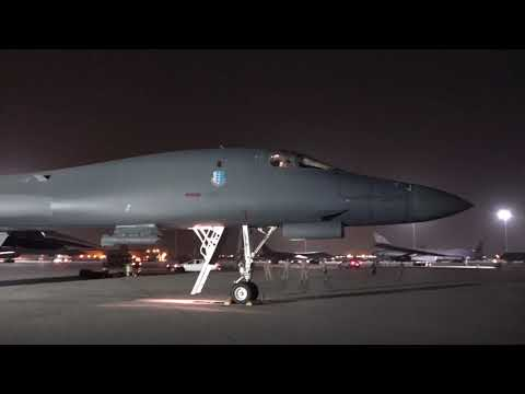 B-1B Lancer Launches For Syria Airstrike