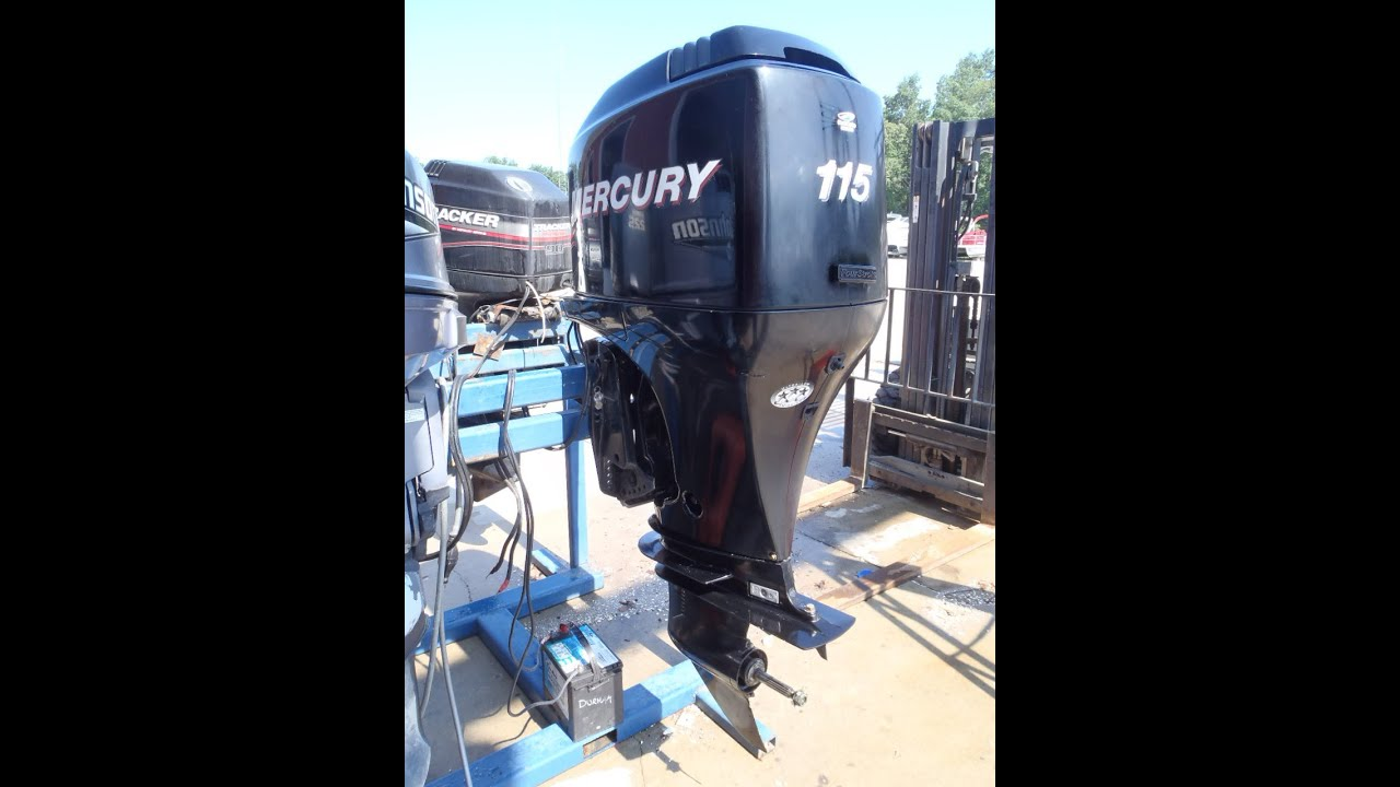 6m2a63 used 2005 mercury 115elpt 115hp 4 stroke outboard for Mercury outboard motor for sale