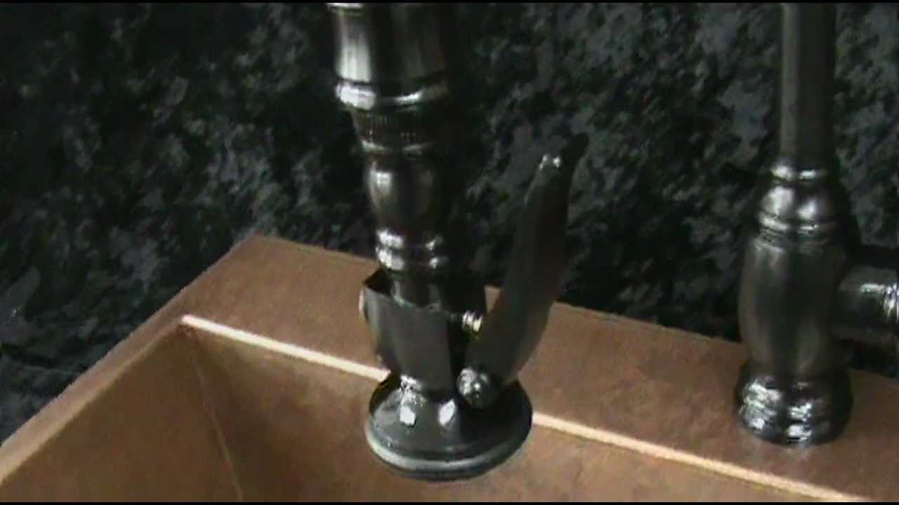 The Waterstone traditional pull down faucet - YouTube