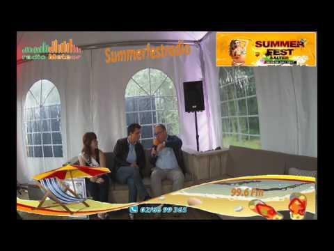 interview Niels de Stadsbader bij SummerFest radio Meteor