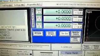 test du 1er programme cnc plasma